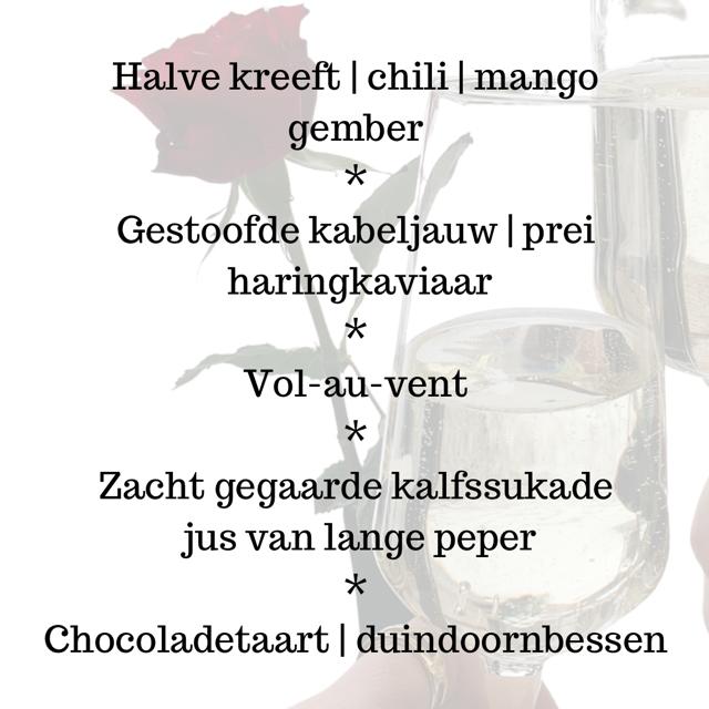 Jubileum menu 5 gangen